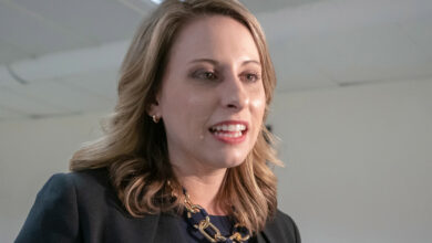 """Photo of Katie Hill said she """"cried for several days"""" after the Republicans took her seat"""