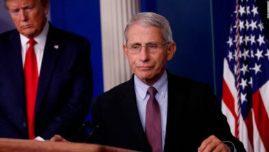 Photo of Fauci prominently stopped conducting TV interviews when the White House moved to reopen the economy