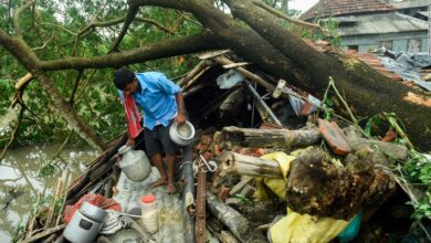 Photo of Typhoon Amphan: Thousands of people in India and Bangladesh have been displaced by storms