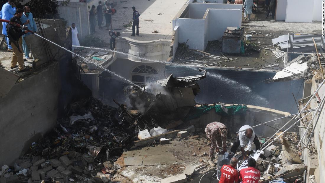 Pakistan International Airlines flight crashed in Karachi
