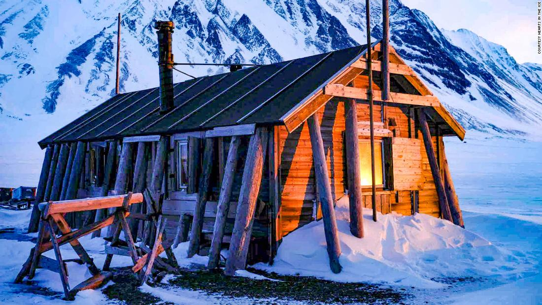 The Arctic explorer was confined in a small hut on the Norwegian Svalbard islands