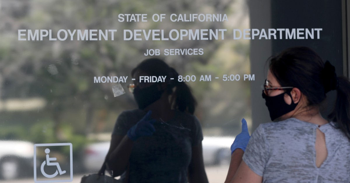 April unemployment rate in California 15.5%; 2.3 million jobs lost