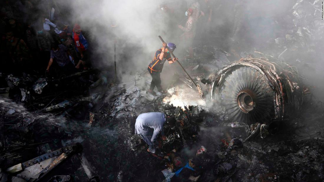 Dozens killed after Pakistani flight crashes