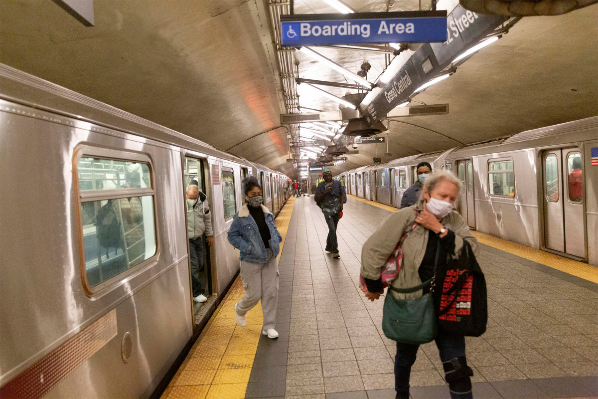 The CDC says workers must avoid mass transportation such as MTA
