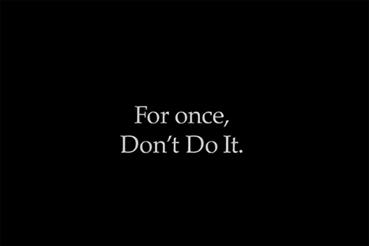 Nike released the 'Don't Do It' advertisement after the death of George Floyd