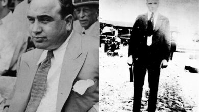 Photo of Al Capone played semi-pro baseball before turning to crime