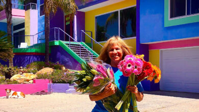 Photo of The artist's rainbow house in California brings her excitement but her neighbor is charming