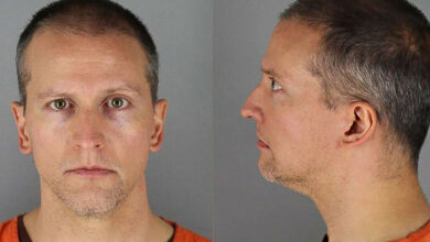 Photo of Derek Chauvin, a former Minneapolis police officer, moved to prison with maximum security