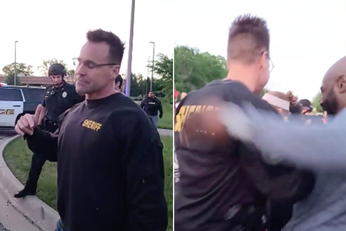 The Michigan Sheriff removed riot equipment to join protester George Floyd