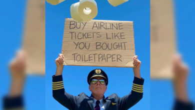 Photo of The airline captain asks people to 'buy plane tickets' like they 'buy toilet paper'