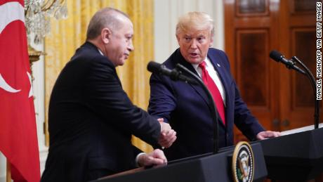 President Donald Trump and Turkish President Recep Tayyip Erdogan participated in the White House press conference in November 2019.