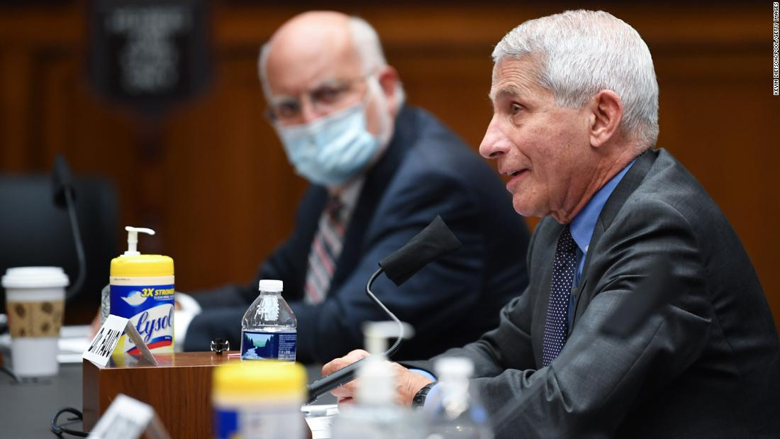 Fauci and Redfield testified before the Senate when countries struggled to contain the corona virus