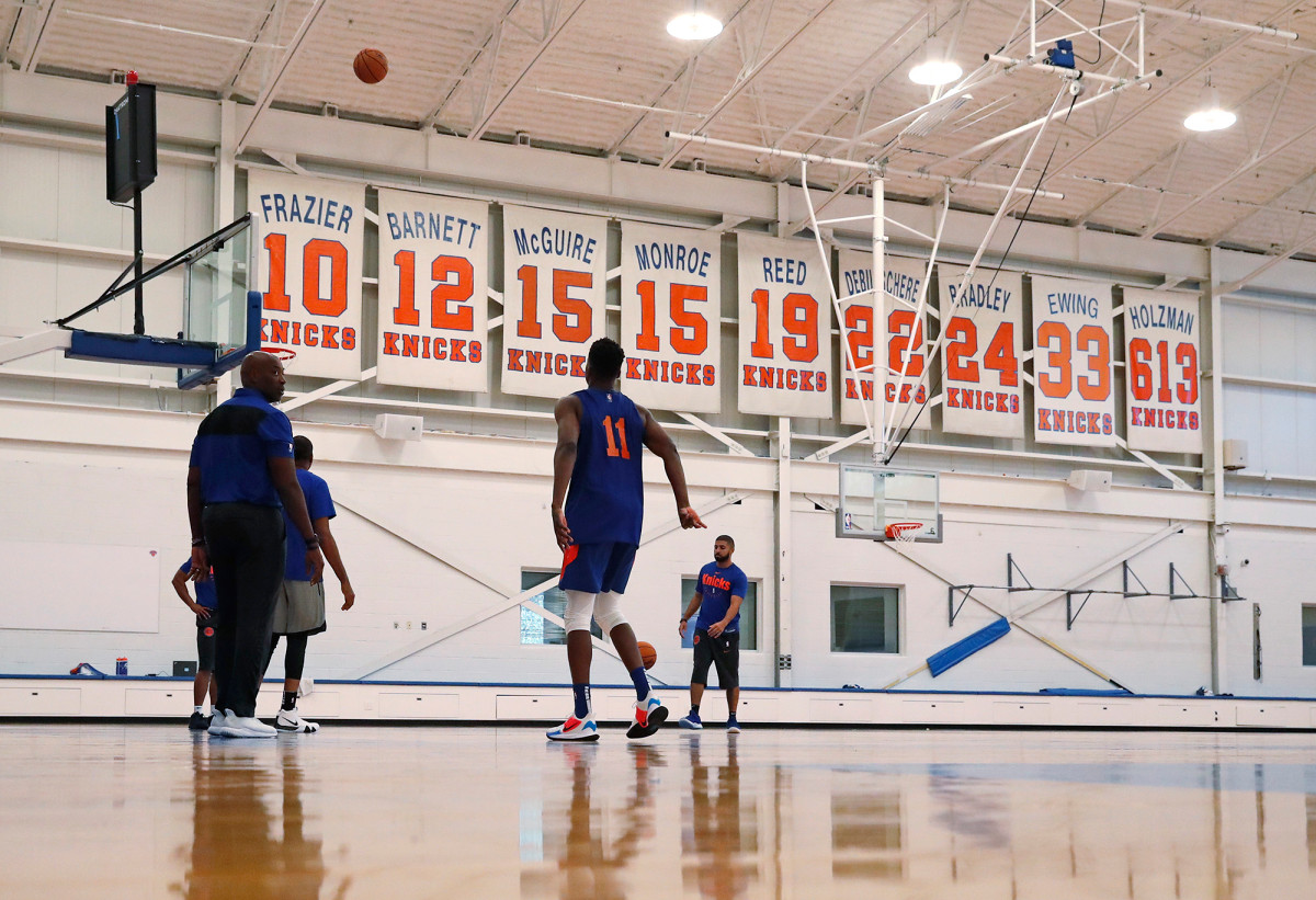 The NBA will not let the Knicks practice on stage this summer