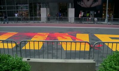 Black Lives Matter mural painted outside Trump Tower