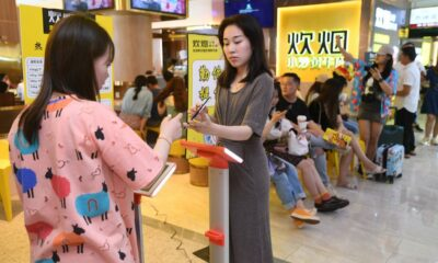 A restaurant chain in China weighed diners to determine how much food they should eat
