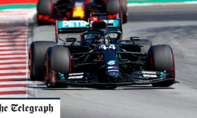Lewis Hamilton leads from Max Verstappen in Barcelona