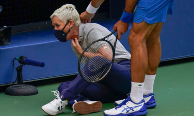 Line hit by Djokovic's ball receives death threats