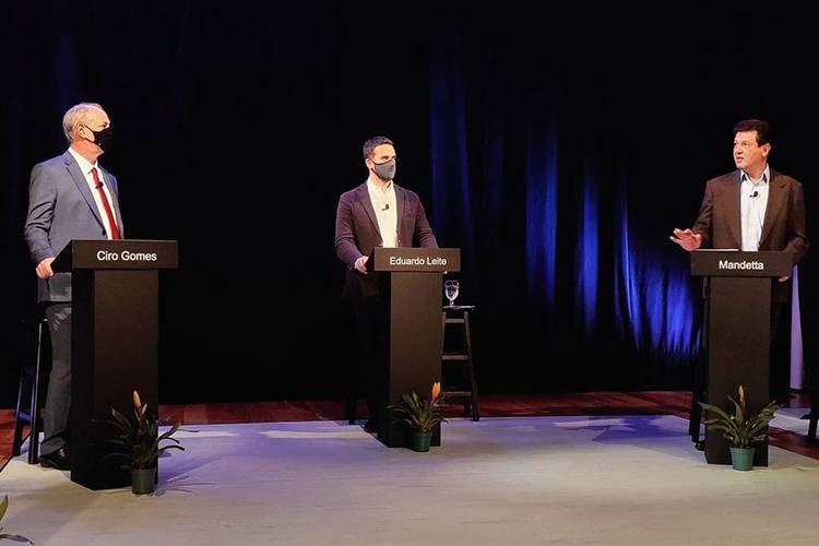Ciro Gomes (PDT), Eduardo Leite (PSDB) and Luis Enrique Mandetta (DEM) -