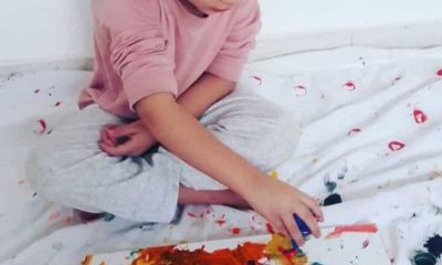 4-year-old child exhibits at the Louvre after his paintings went viral