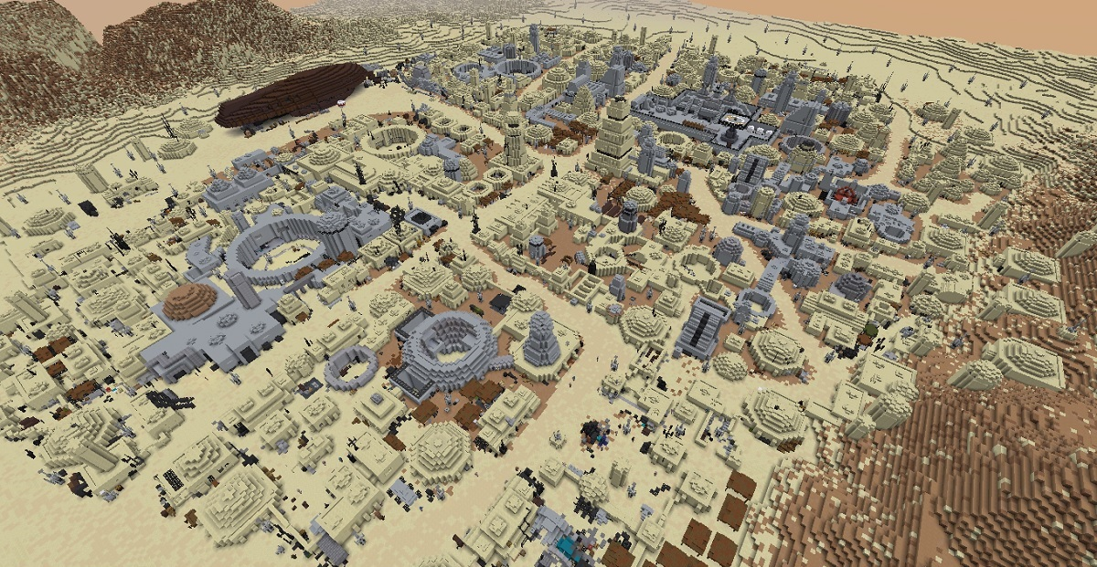 Minecraft player recreates planets from Star Wars