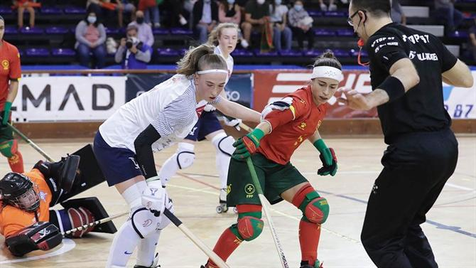 A BOLA - Women's team defeated France at the European Roller Hockey Championship