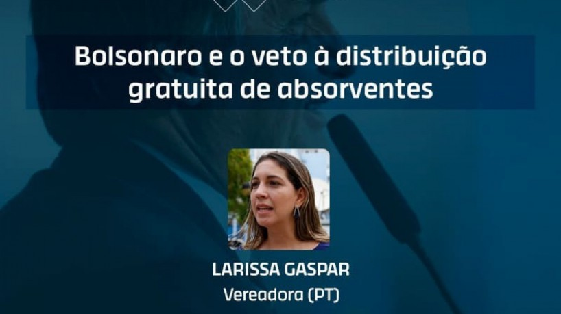 Vereadora Larissa Gaspar (PT) é a entrevistada do Jogo Político desta terça-feira, 12 de outubro de 2021(foto: Reprodução / Instagram)
