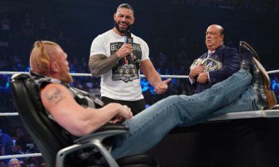 Reaction to Brock Lesnar and Roman Raines' segment